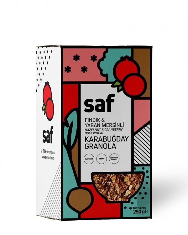 SAF Fındık & Yaban Mersinli Karabuğday Granola
