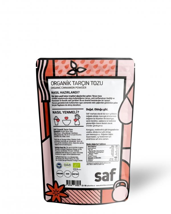 SAF Organik Tarçın Tozu