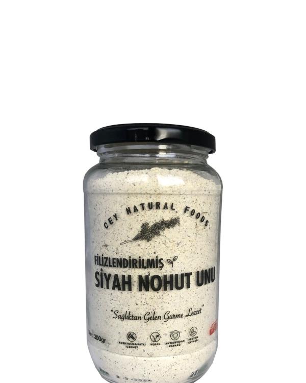 CEY NATURAL FOODS Filizlendirilmiş Siyah Nohut Unu 300 Gram