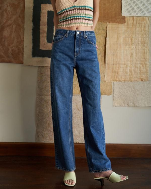 A HIDDEN BEE Full Length Wideleg Jeans