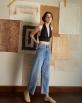 A HIDDEN BEE High Waist Wideleg Jeans