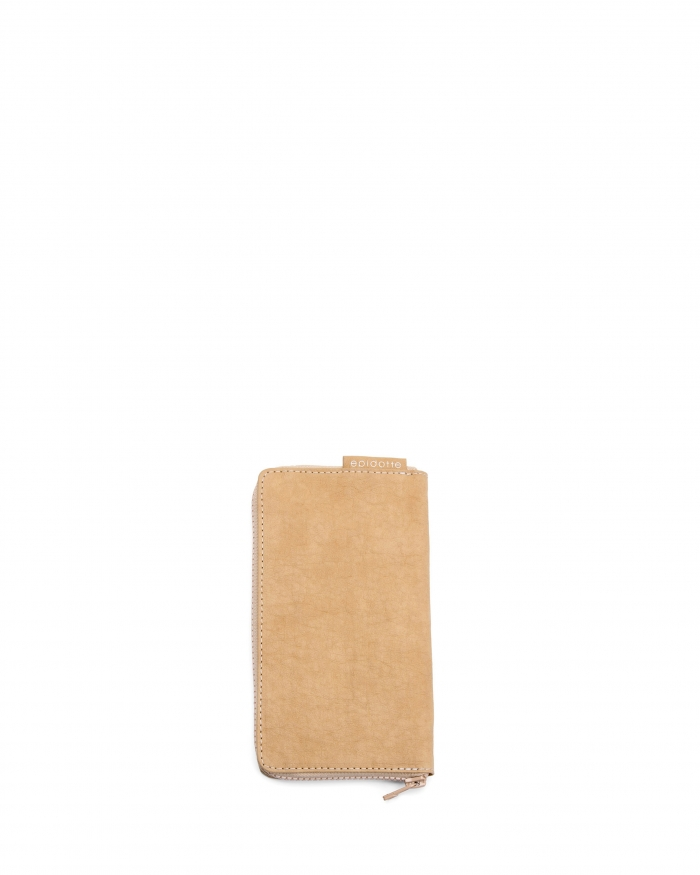EPIDOTTE Zipped Wallet - Beige