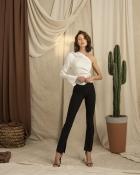 HIP+HAPPEN Isabella Bluz - Kırık Beyaz
