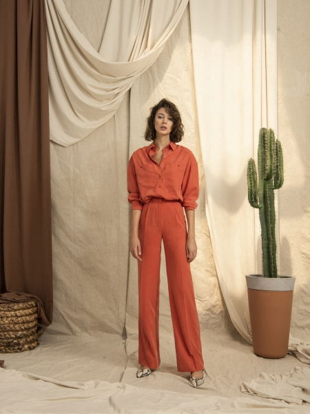 HIP+HAPPEN  Tosca Pantolon - Oranj