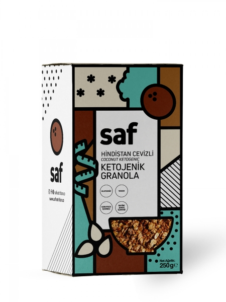 SAF  Hindistan Cevizli Ketojenik Granola