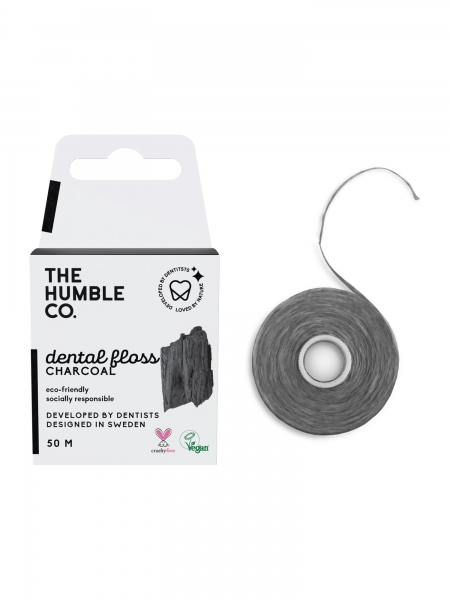 HUMBLE BRUSH  Dental Floss Charcoal - 50 M