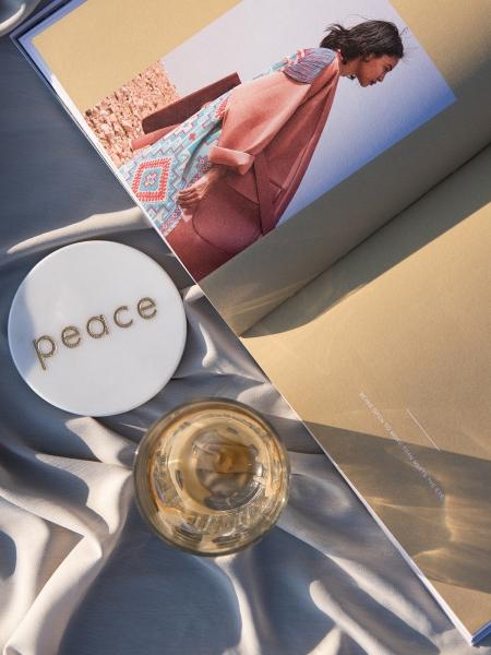 MİNVAL  Peace Yazılı Bardak Altlığı
