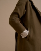 A HIDDEN BEE Belted Long Coat