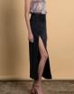 A HIDDEN BEE Side Split Skirt