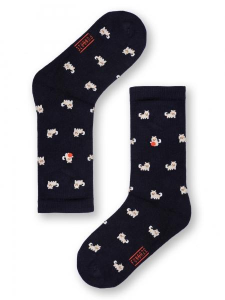 FUNDAZE  Pomeranian Navy Çorap