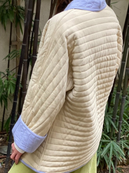 A HIDDEN BEE  Double Sided Quilted Kimono