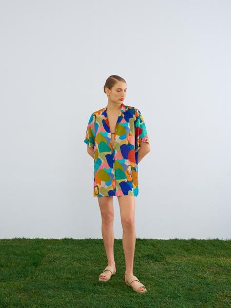HIP+HAPPEN  Tahiti Gömlek Elbise