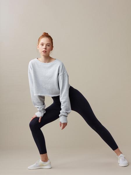 LANDO STUDIO  Organic Cotton Cropped Sweatshirt