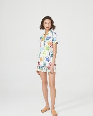 ROUPILLON  Roupillon Soleil Colore Kısa Kollu Pijama Takımı