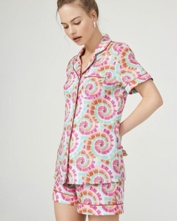 ROUPILLON Roupillon Tie Dye Joy Kısa Kollu Pijama Takımı