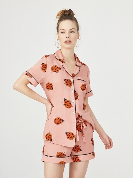 ROUPILLON  Roupillon Lady Bird Kısa Kollu Pijama Takımı
