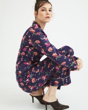 ROUPILLON  Roupillon Flower Garden Uzun Kollu Pijama Takımı