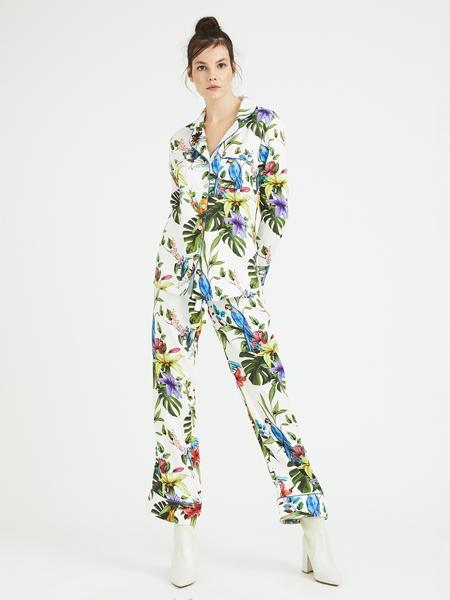 ROUPILLON  Roupillon Queen Parrot Uzun Kollu Pijama Takımı