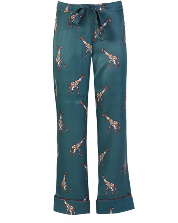 ROUPILLON Roupillon Head In The Clouds Giraffe Uzun Kollu Pijama Takımı