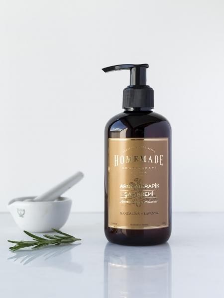 HOMEMADE AROMATERAPİ  Aromaterapik Saç Kremi Mandalina & Lavanta