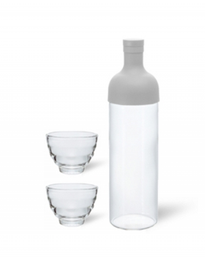 HARIO  Hario Filter in Bottle & Tea Glass Set (Gri)