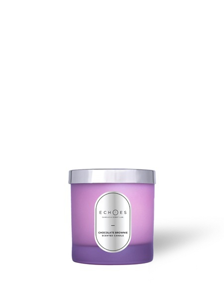 ECHOES CANDLE & SCENT LAB.  Chocolate Brownie Kokulu Ahşap Fitilli Doğal Mum