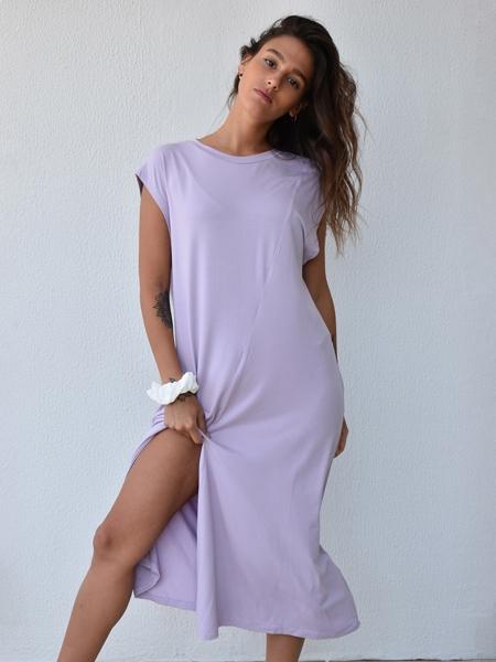SENSESSENTIALS  Hideaway Elbise- Lilac